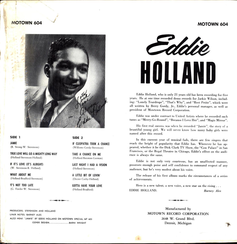 Eddie Holland / Featuring * If Cleopatra