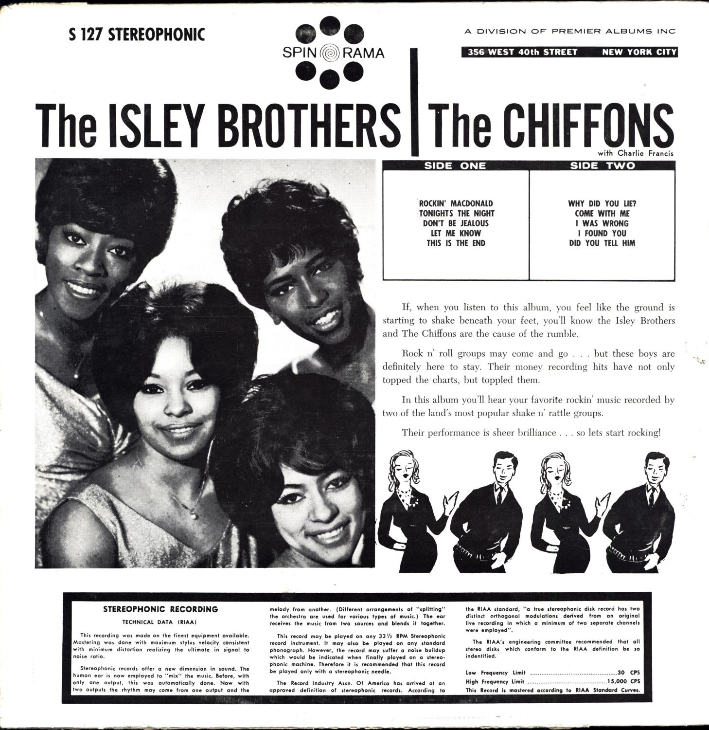 Starring The Isley Brothers and the Chiffons