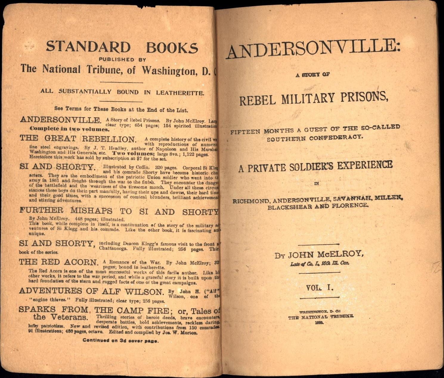 Andersonville: A Story of Rebel Prisons /