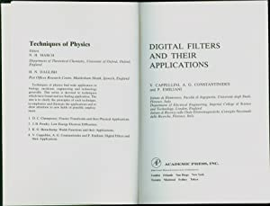 Digital Filters and Their Applications: Cappellini, V.; A.G. Constantinides and P. Emiliani