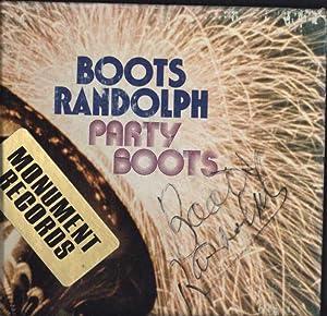 Party Boots (SIGNED, AUTOGRAPHED VINYL LP): Boots Randolph
