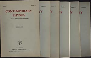 Contemporary Physics / A Journal of Interpretation and Review / October 1959 through ...