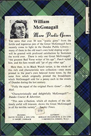 Poetic Gems, More Poetic Gems, and Last Poetic Gems, Selected from the Works of: McGonagall, ...