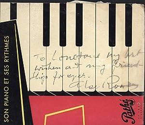 Son Piano et Ses Rythmes (10-inch 33-1/3 LP record) (SIGNED, AUTOGRAPHED, FRENCH VINYL LP): ...