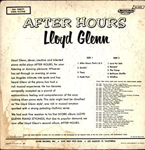 After Hours (VINYL ROCK 'N ROLL LP): Glenn, Lloyd