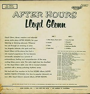 After Hours (VINYL LP): Glenn, Lloyd