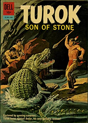 Turok Son of Stone No. 28 / June-August / Enslaved by cunning cavemen, Turok turns ...