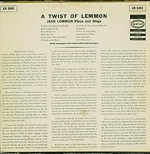 A Twist of Lemmon / Jack Plays and Sings (VINYL LP): Lemmon, Jack
