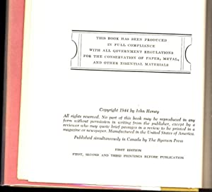 A Bell for Adano / A Novel (SIGNED): Hersey, John