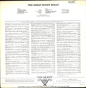 The Great Buddy Holly / enhanced for Stereo (VINYL ROCK 'N ROLL LP): Holly, Buddy
