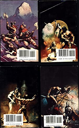 Four Ace Fantasy Conan MM paperbacks in box: Conan of Cimmeria 2; Conan the Freebooter 3; Conan the...