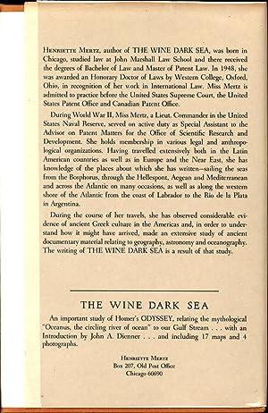 The Wine Dark Sea / Homer's Heroic Epic of the North Atlantic (INSCRIBED: THE PHILIP JOSE...