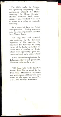 The A.S.F. / The Story of a Great Conspiracy (FIRST PRINTING, IN AN EARLY ORIGINAL JACKET): Rhode, ...