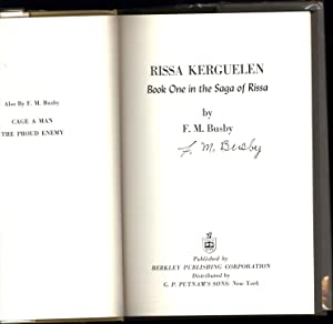 Rissa Kerguelen / Book One Of the Saga of Rissa (SIGNED): Busby, F.M.
