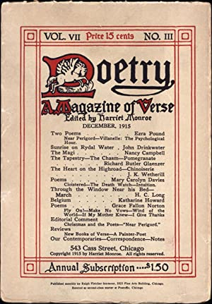 Poetry / A Magazine of Verse / Vol. VII No. III / December, 1915