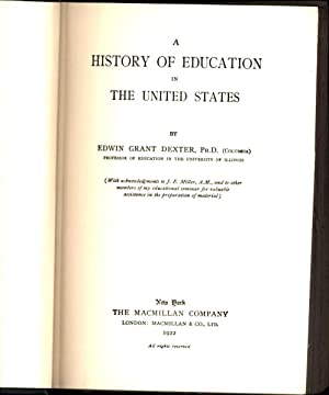 A History of Education in the United States: Dexter, Edwin Grant