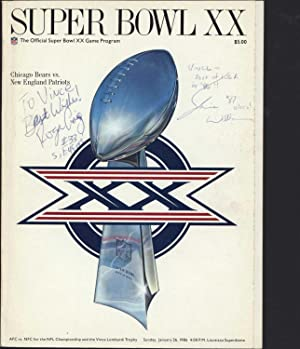 Super Bowl XX / The Official Super Bowl XX Game Program (SIGNED BY FORTY-NINERS QUARTERBACK ROGER ...