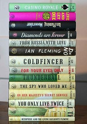 The James Bond Novels (A Lovely 14-Volume: Fleming, Ian