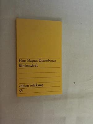 Blindenschrift.: Enzensberger, Hans Magnus: