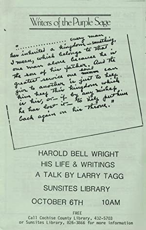 Harold Bell Wright: His Life & Writings.: Cochise County Library