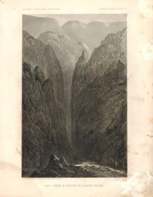 Big Canyon at the Mouth of Diamond Creek. General Report, Plate VI. from the Report upon the Colo...