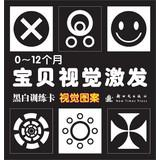 0-12 months baby black and white vision inspired visual pattern training card (Chinese Edition): LI...