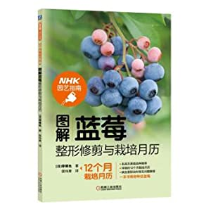 Graphic blueberry plastic trimming and cultivation calendar(Chinese: RI ] BAN