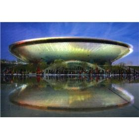 Expo charm Shanghai series of postcards: Shanghai World Expo Cultural Centre (in English)(Chinese ...