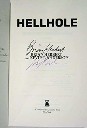 Hellhole (Signed X2, Postcard): Herbert, Brian; Anderson, Kevin J