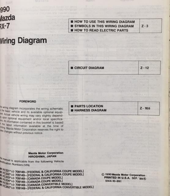 1990 Rx7 Wiring Diagram