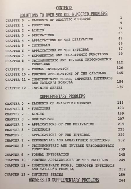 Study Guide for Calculus