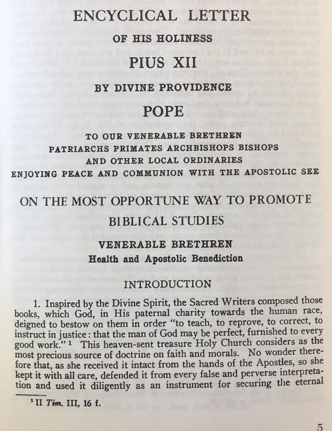 Promotion of Biblical Studies (Divino
