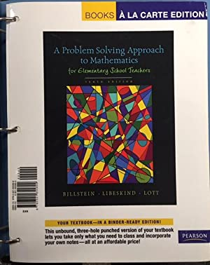 billstein libeskind lott a problem solving approach to mathematics for elementary school teachers
