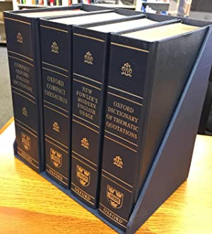 Four Volume Set - Compact Oxford English Dictionary + Oxford Compact Thesaurus + New Fowler's Mod...