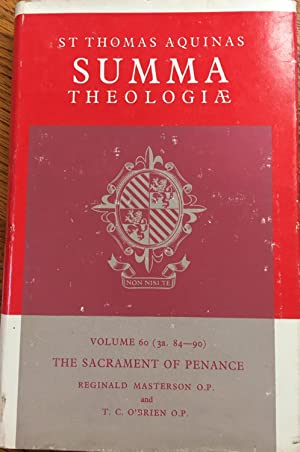 Summa Theologiae: Vol 60 (3a 84-90), The Sacrament of Penance