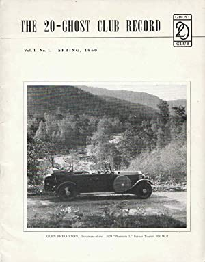 The 20-Ghost Club Record Vol 1, No 1, Spring 1960: Hallows, Ian S. , edited by