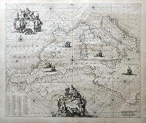 Occidentalior Tractus Maris Mediterranee. Middelandsezee.: RENARD, LOUIS.
