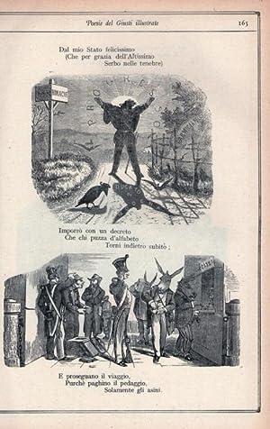 Poesie di Giuseppe Giusti illustrate da Adolfo: GIUSTI, GIUSEPPE.