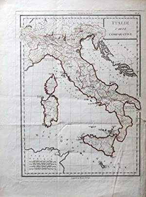 Italie. Carte Comparative.
