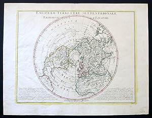 Emisfero Terrestre Settentrionale tagliato su l'Equatore.: ZULIANI, G. -