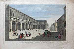 A View of the Hospital Piazza of St. Mari at Florence.