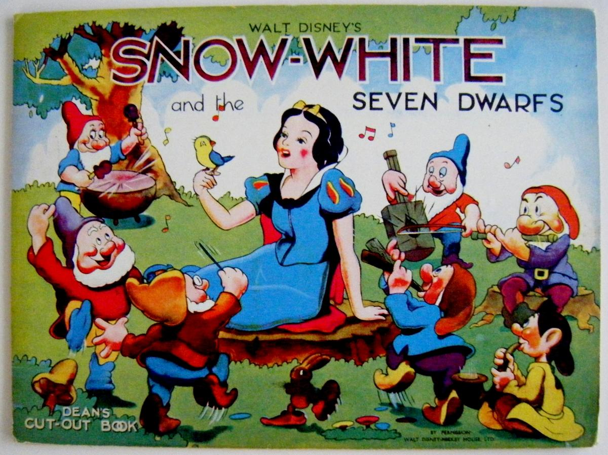 Snow White Book Cover ~ Snow white and the seven dwarfs dean s cut out book by