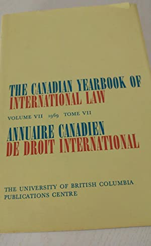 The Canadian Yearbook of International Law Volume VII 1969