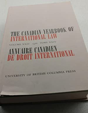 The Canadian Yearbook of International Law Volume XXIV 1986