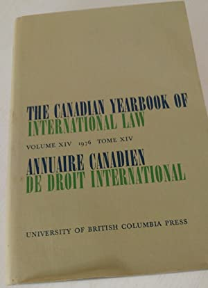 The Canadian Yearbook of International Law Volume XIV 1976