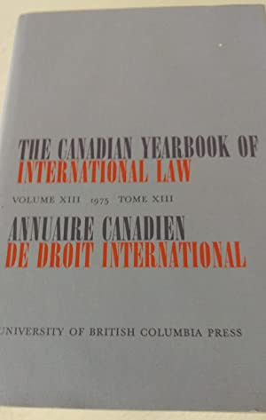 The Canadian Yearbook of International Law Volume X111 1975