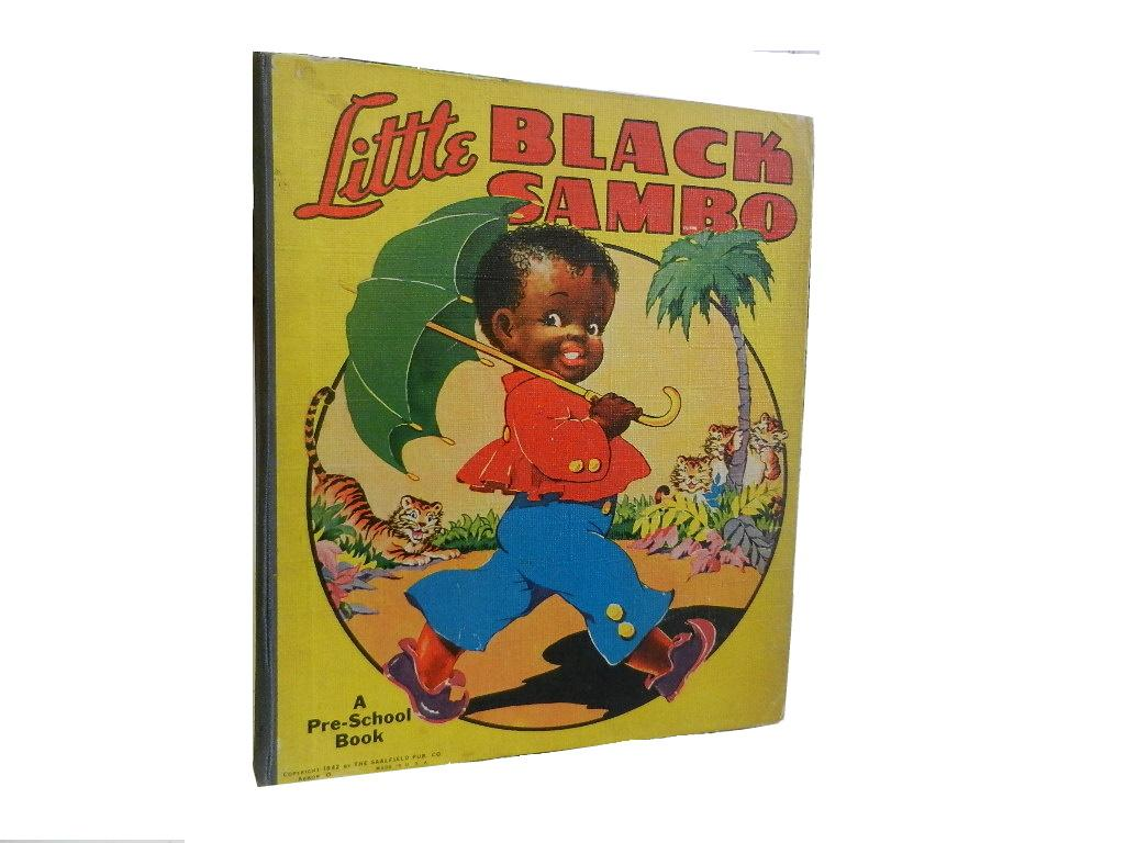 Little Black Sambo (childrens) Good Hardcover Unpaginated. 8vo (square). Quarter cloth over boards. A shortened version of the popular childrens' story. Wear and light soiling to boards, bumping t