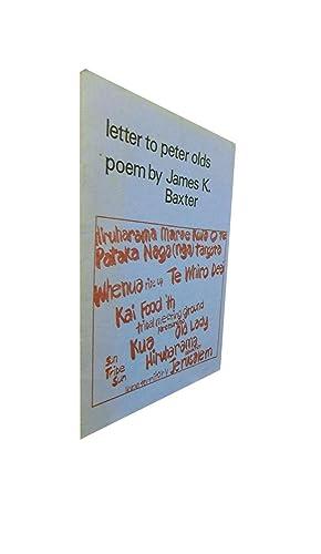 Letter to Peter Olds: Baxter James K