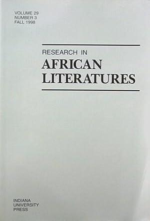 Research in African Literatures Vol 29 No: Irele Abiola (ed)