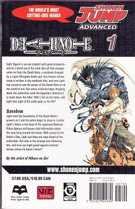 Death Note: Shonen Jump Advanced: First Five Volumes in the Series.